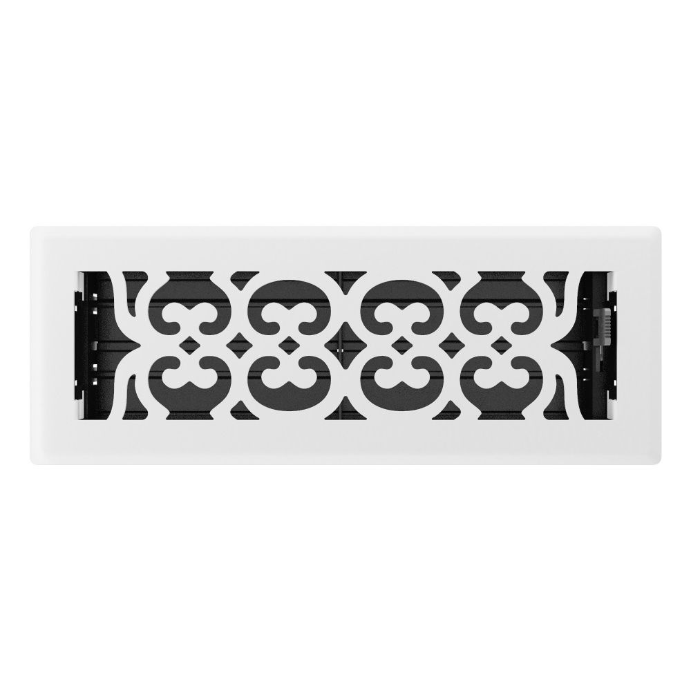 3 Inch x 10 inch White Victorian Floor Register RG3171 Canada Discount