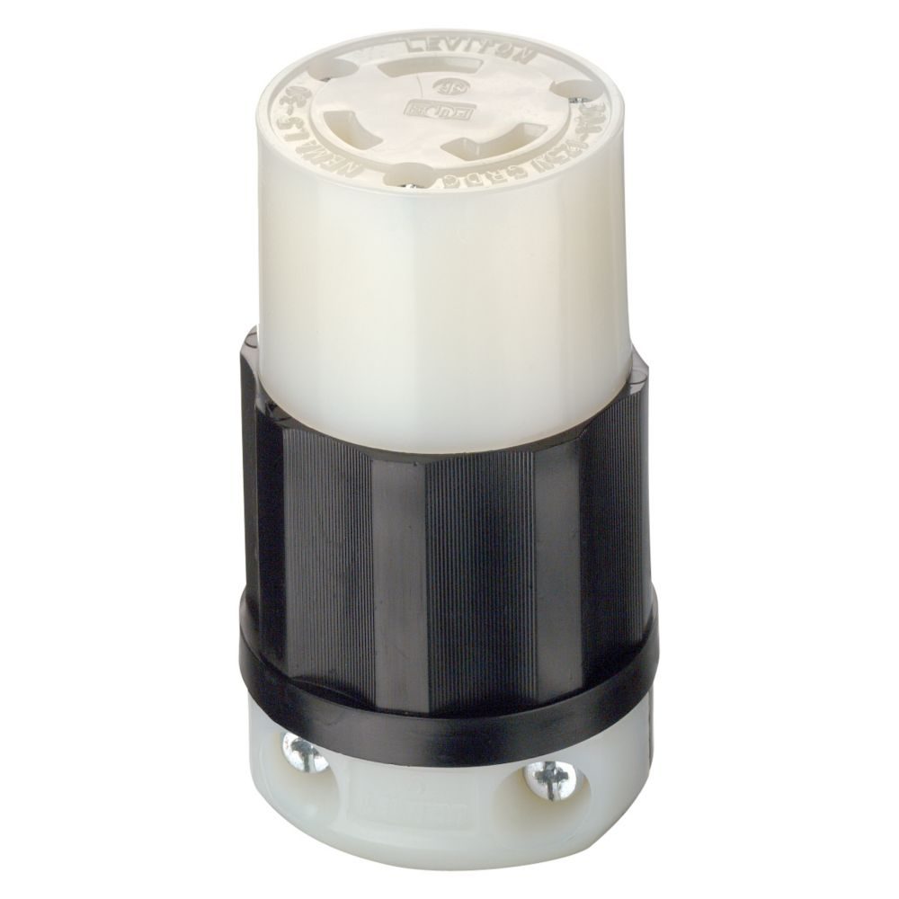 Connecteur Verrouillable, 30 A, 125 V, Noir/Blanc