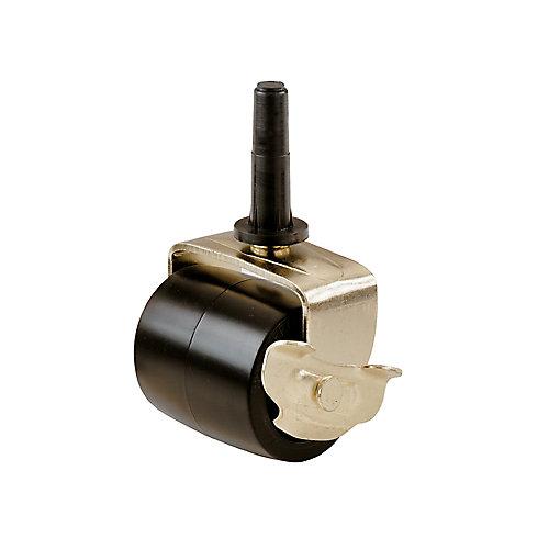 Roulette de cadre de lit de 54 mm à bande de roulement en caoutchouc noir avec douilles, capacité de charge 57 kg paquet de 2