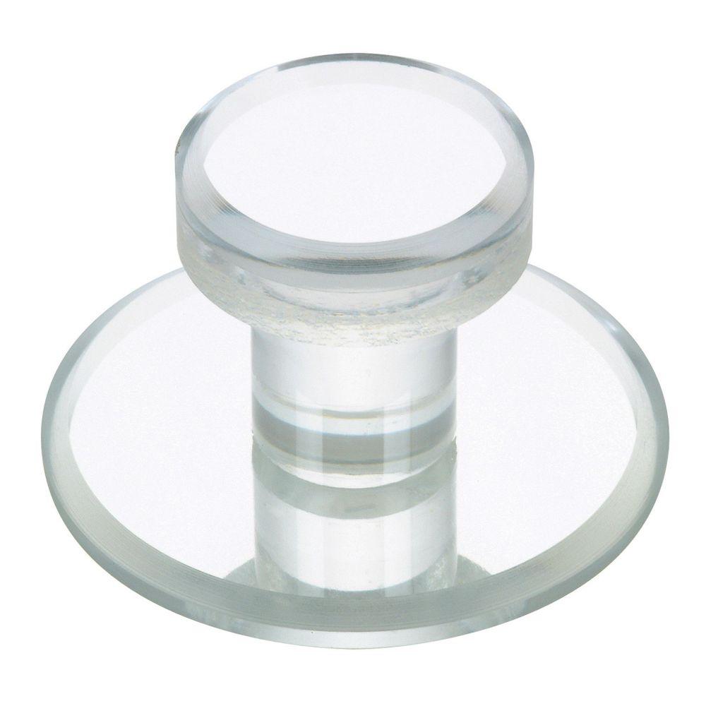 Classic Acrylic Knob - Clear - 48 mm Dia.