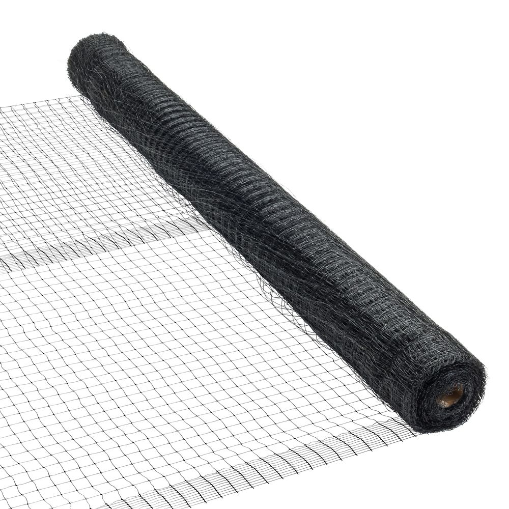 Peak Products 7 ft. x 100 ft. Plastic Netting in Black