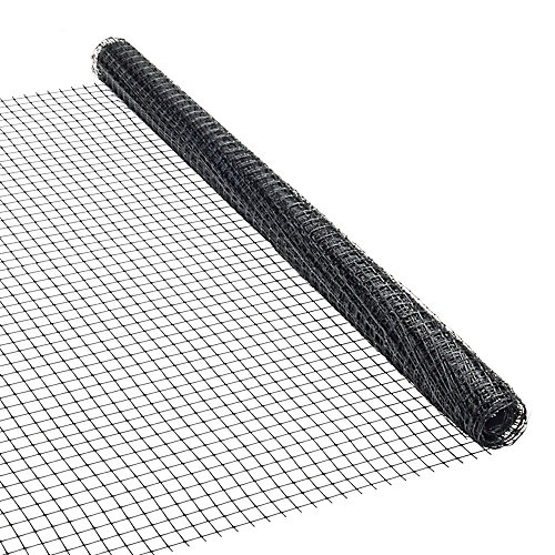 peak products 36 inch x 25 ft plastic netting in black the home