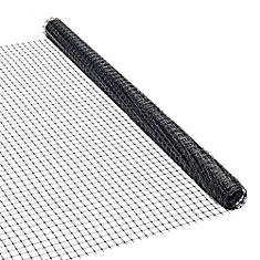 36-inch x 25 ft. Plastic Netting in Black