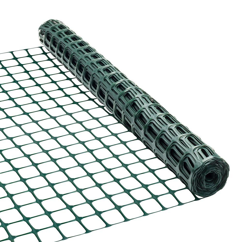 Clôture de plastique 36 pouces x 25 pieds - Vert
