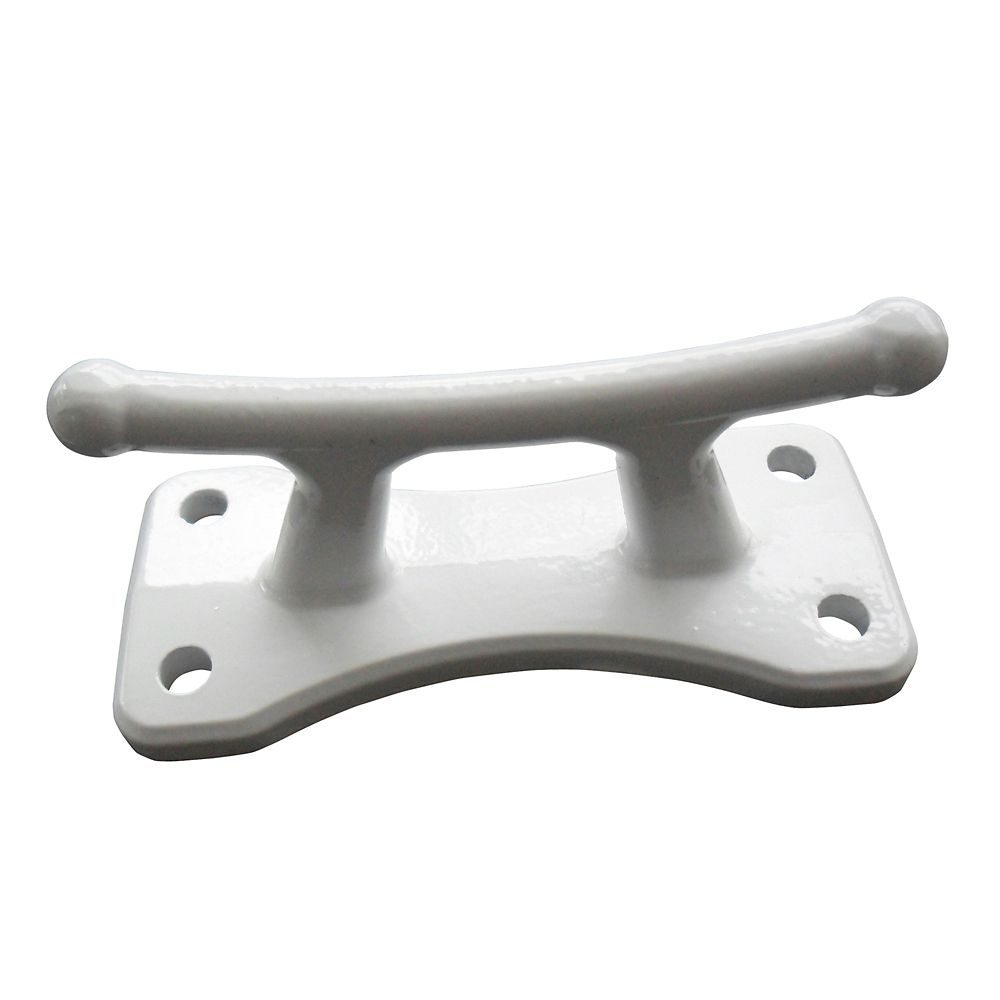 Dock Cleat, 4 Inch White Aluminum Classic Cleat