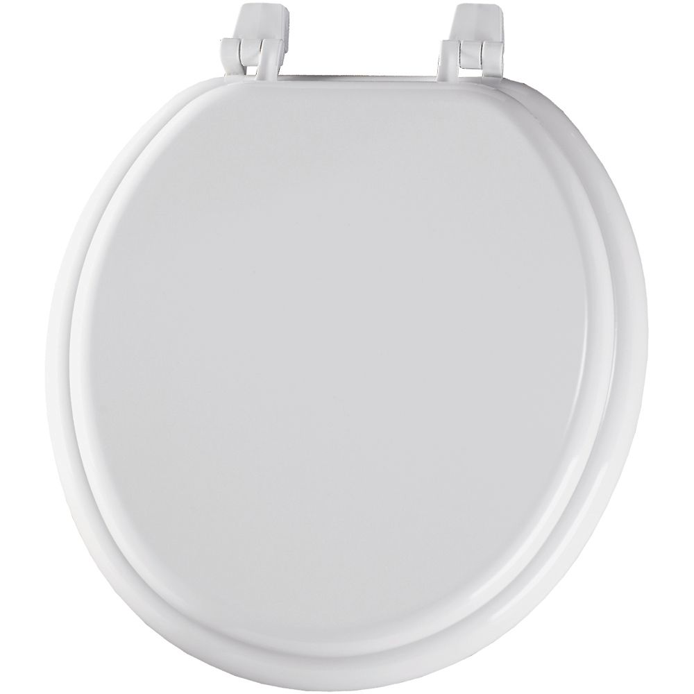 Round Wood Toilet Seat with Top-Tite<sup>®</sup> Hinge in White