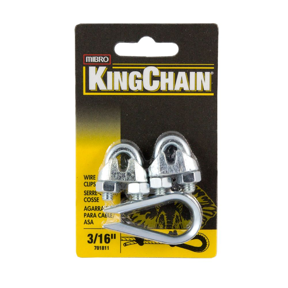 3/16 In. Wire Rope Clip (2) Thimble (1)