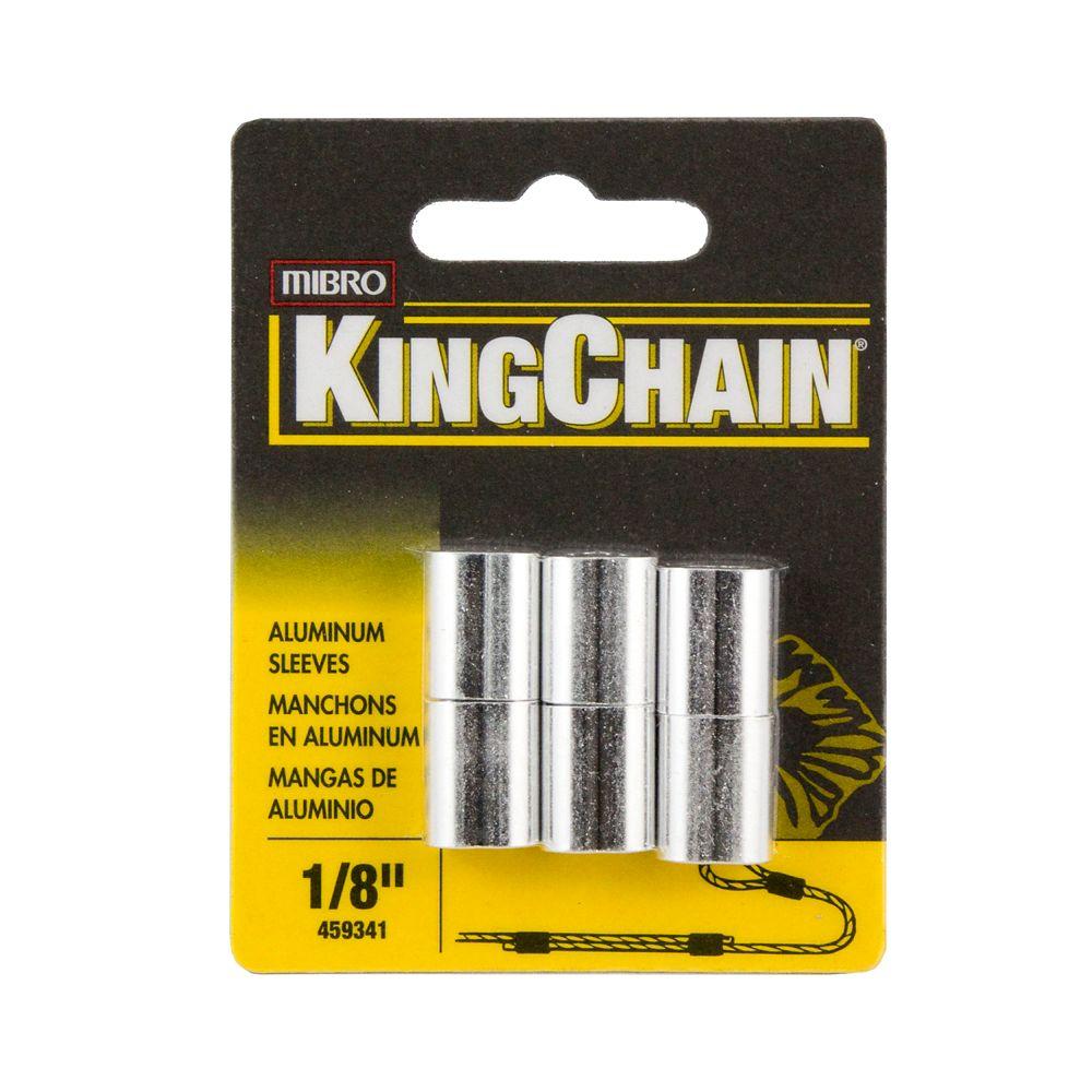 """1/8"""" Manchons Aluminium 6/cte"""