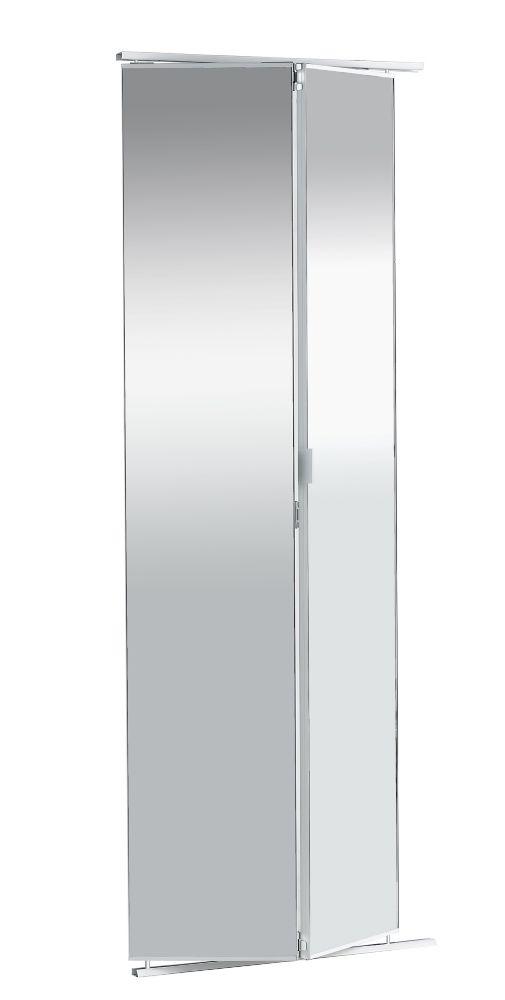 Veranda porte miroir 30 pouces sans encadrement pliante for Porte miroir pliante