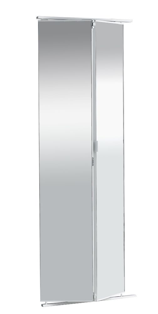 36-inch Frameless Mirrored Bifold Door