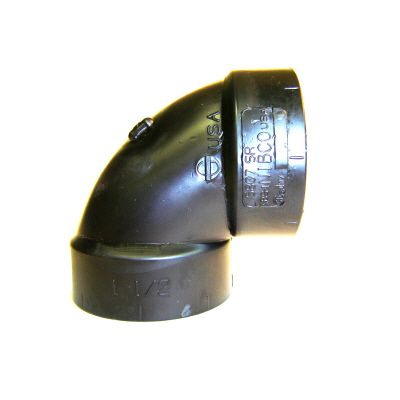 2 In. ABS 90 Degree SR Elbow All Hub