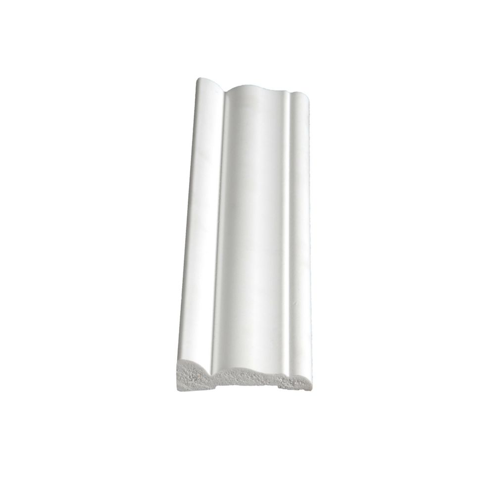 PVC Colonial Casing 9/16 In. x 2-1/8 In. x 7 Ft.