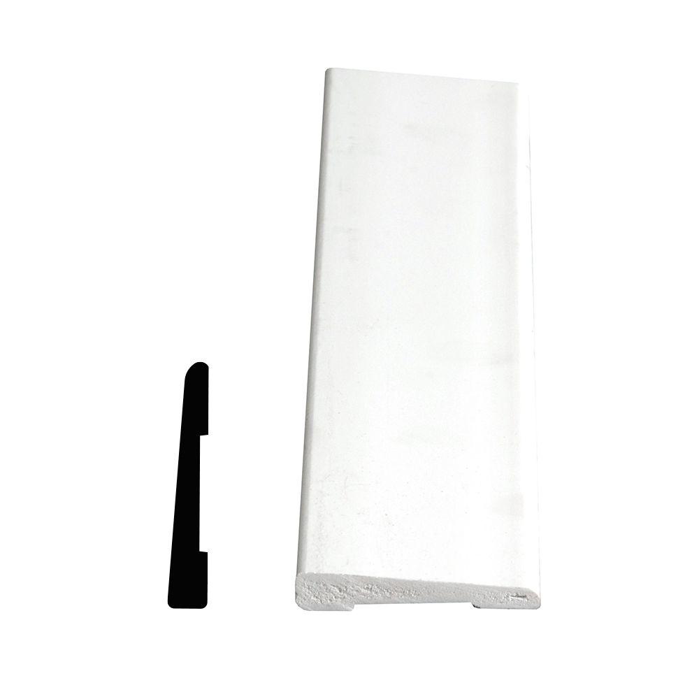 PVC Bevel Casing 3/8 In. x 2-1/8 In. x 7 Ft.
