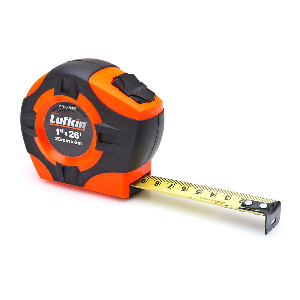 Lufkin Tape 1 inch x 8m/26 ft. Orange/Black
