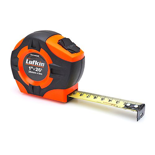 Lufkin Ruban 1 po x 8m / 26 pi orange/noir