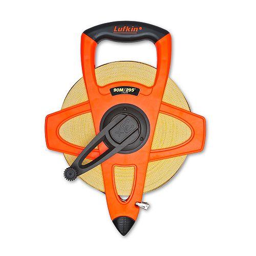"Lufkin Plumb fibreglass 1/2""X90M/295' tape measure"