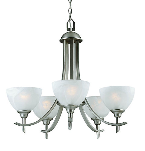 Hampton bay 26 in chandelier brushed nickel finish the home 26 in chandelier brushed nickel finish aloadofball Choice Image