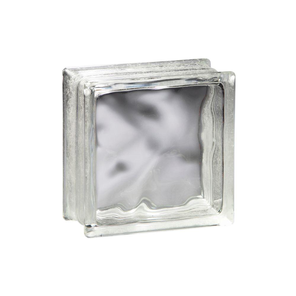 Bloc de verre modèle Decora Thinline, 8po x 8po x 3po � boîte de10