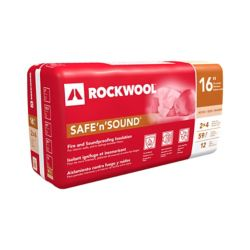 Rockwool Safe'n'Sound 16 inch O.C. For 2x4 Wood Studs