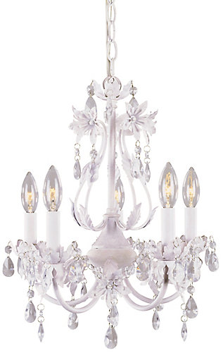 Hampton bay 5 light crystal chandelier pink tutu finish the 5 light crystal chandelier pink tutu finish aloadofball Choice Image
