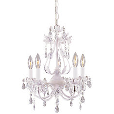 Chandeliers modern rustic more the home depot canada 5 light crystal chandelier pink tutu finish mozeypictures Choice Image