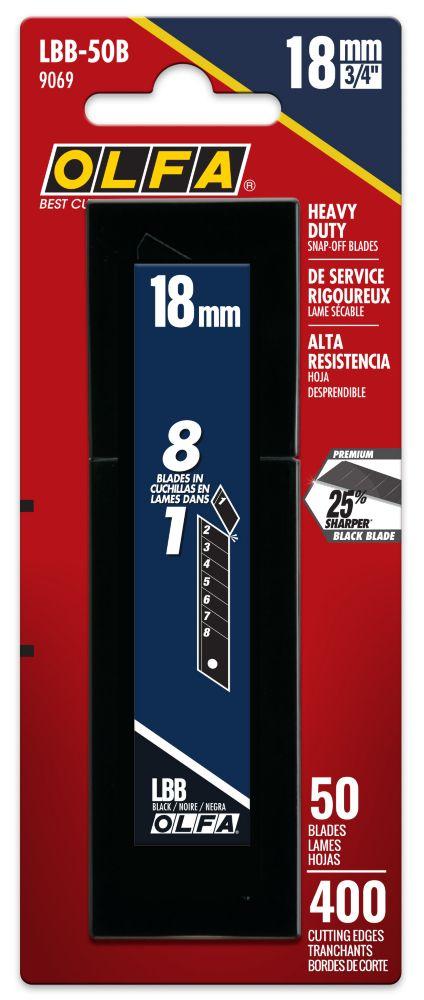 Olfa  Lames UltraMax LBB-50B (50/pqt.)