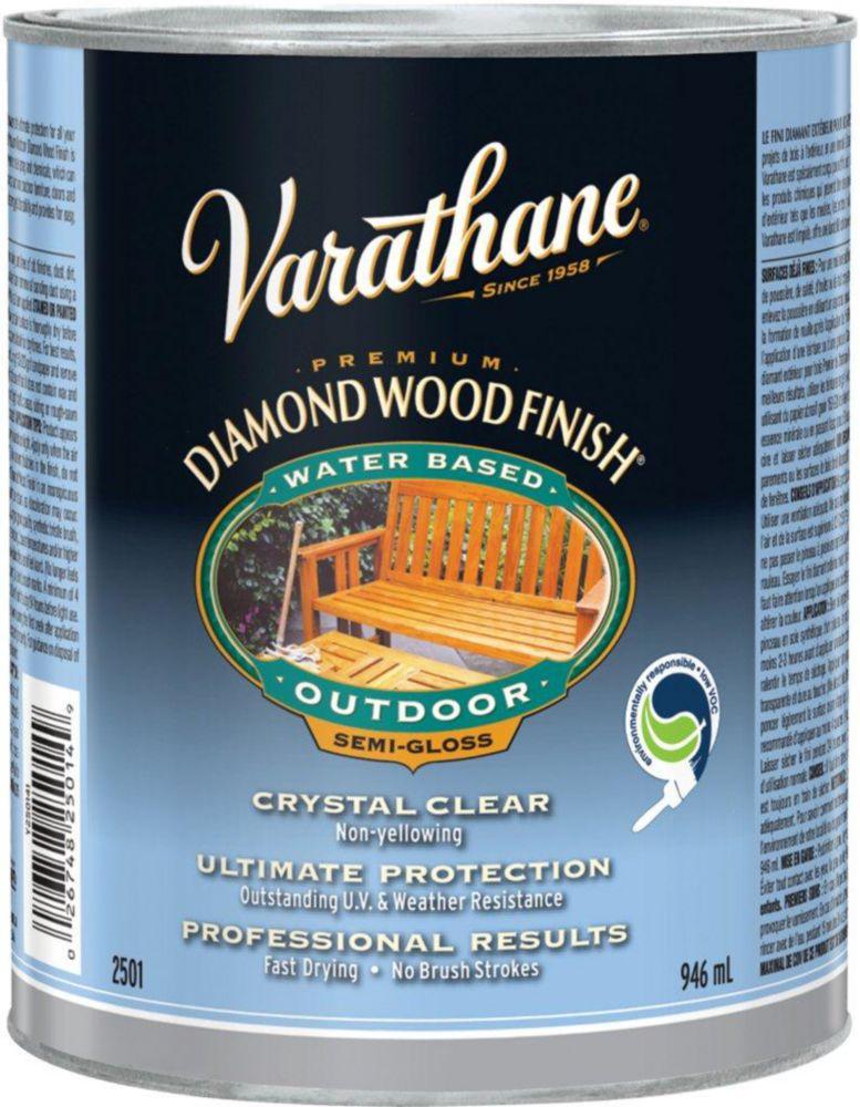 Varathane Diamond Wood Finish - Outdoor (Water, Semi-Gloss) (946ml)