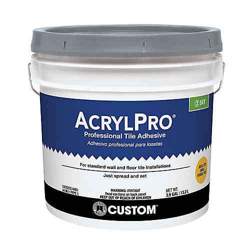 Acrylpro Ceramic Tile Adhesive Type I 3 5 Gallon