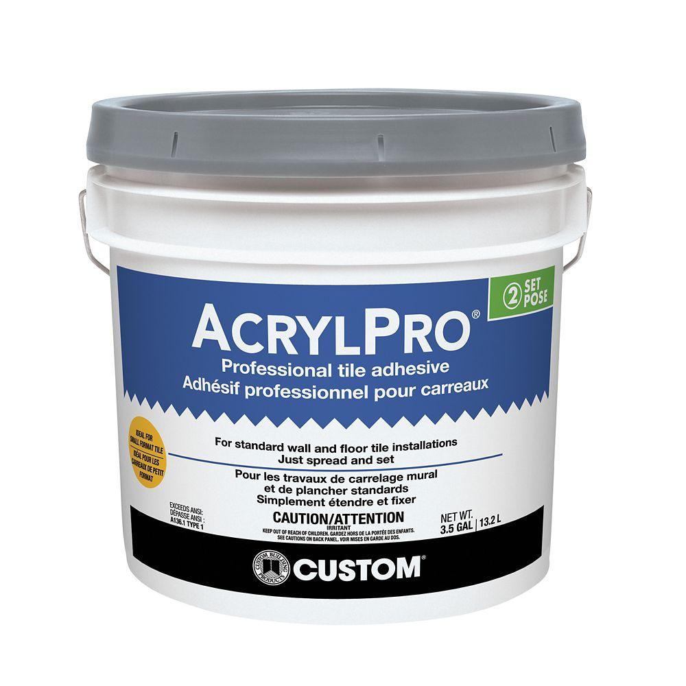 Adhésif pour carreaux de céramique AcrylPro (type I) � 3,5 gallons