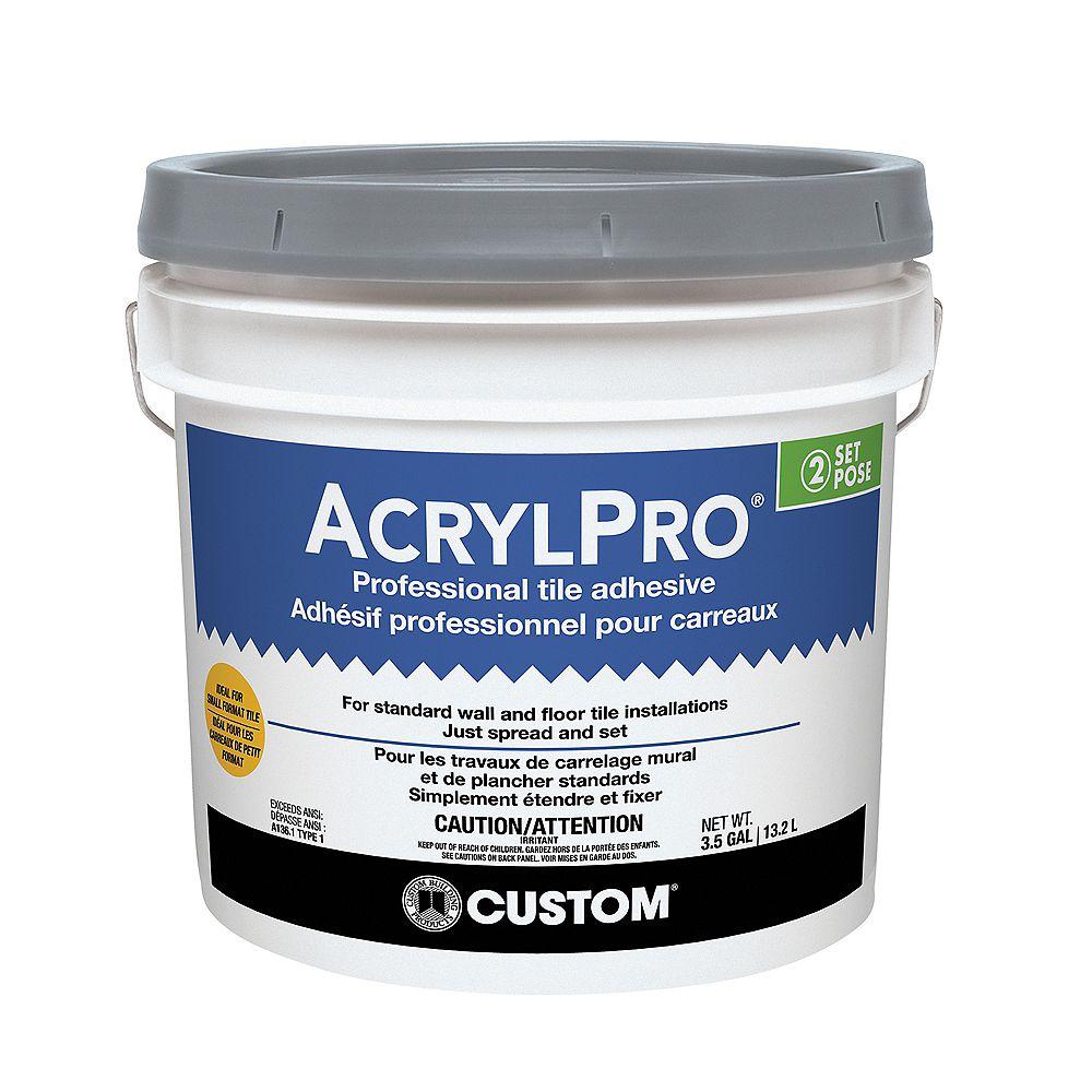 Custom Building Products AcrylPro Ceramic Tile Adhesive (Type I) - 3.5 Gallon