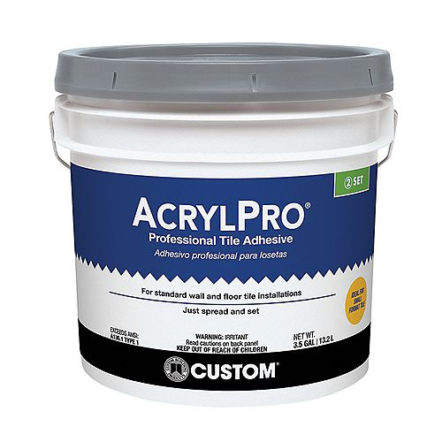 Custom Building Products AcrylPro Ceramic Tile Adhesive (Type I) - 3.5 Gallon