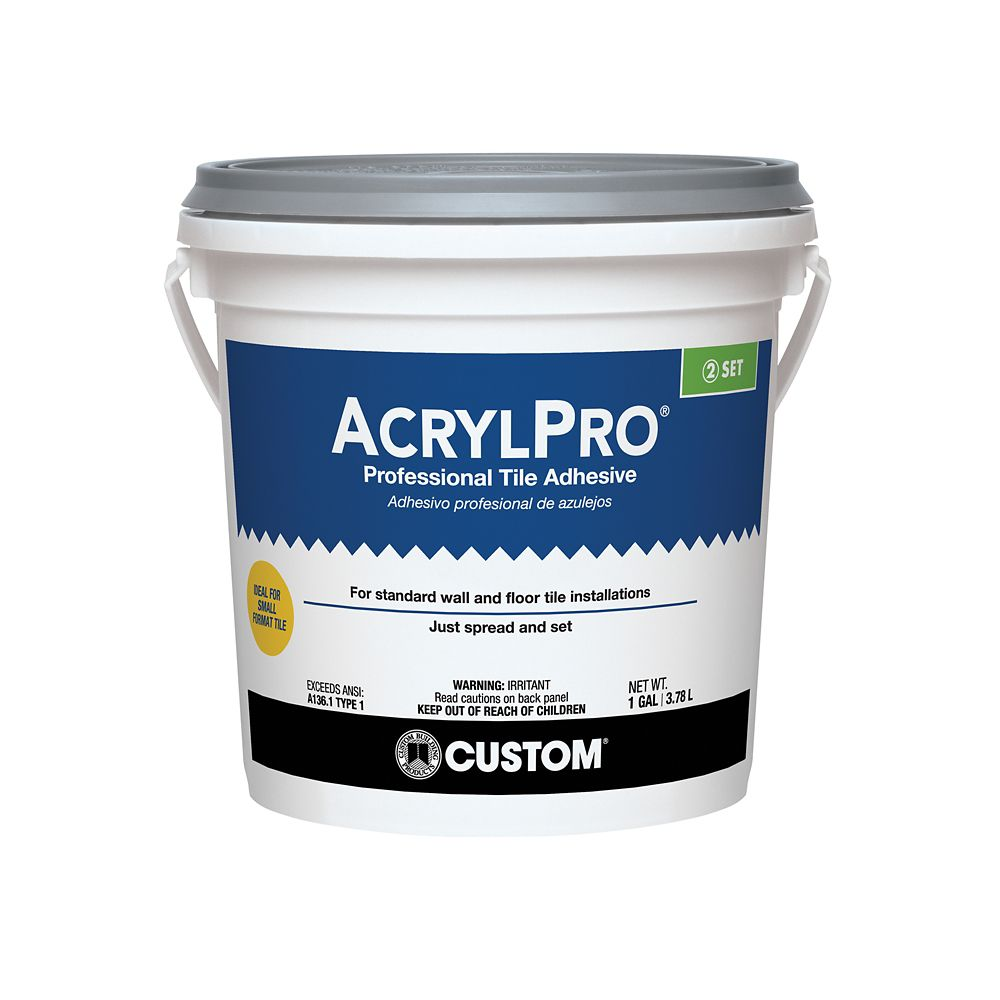 Adhesives the home depot canada acrylpro ceramic tile adhesive type i gallon dailygadgetfo Gallery