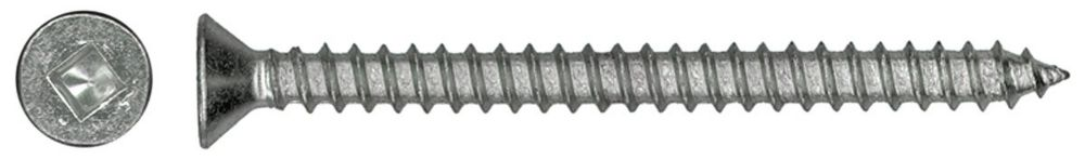 8X2 1/2 Ss Flat Hd Socket Metal Screw
