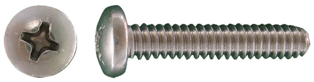 1/4-20x1-1/2 vis de mecanique depouille phil. Inox.