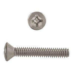 1/4-20x1-1/2 vis de mecanique phillips ovale inox.