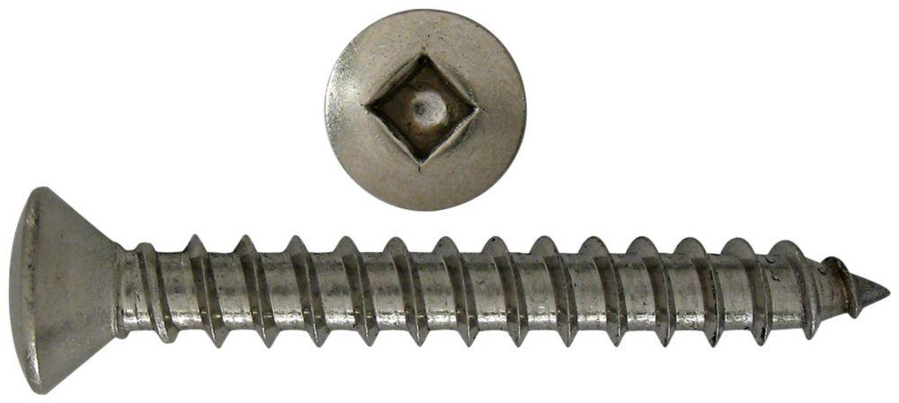 10x1-1/2 vis taraudeuses ovale creuse inox.