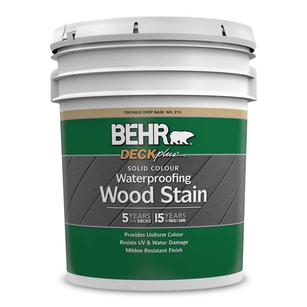 Home Depot Wood Doors Exterior: Behr Solid Colour Deck, Fence & Siding Wood Stain, 17.1L