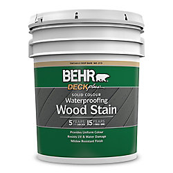 BEHR DECKplus - teinture imperméabilisante pour bois de couleur opaque - Base foncée no 213, 18,9 L