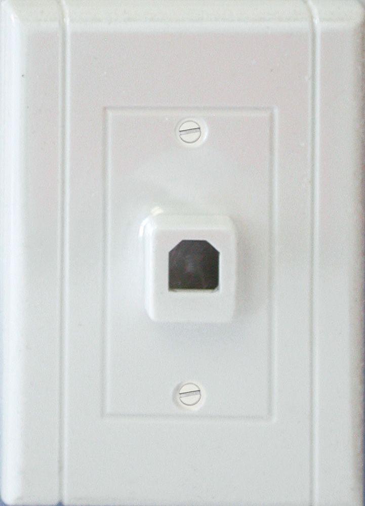 Plaque Murale Décorative Téléphonique Lexan Blanc