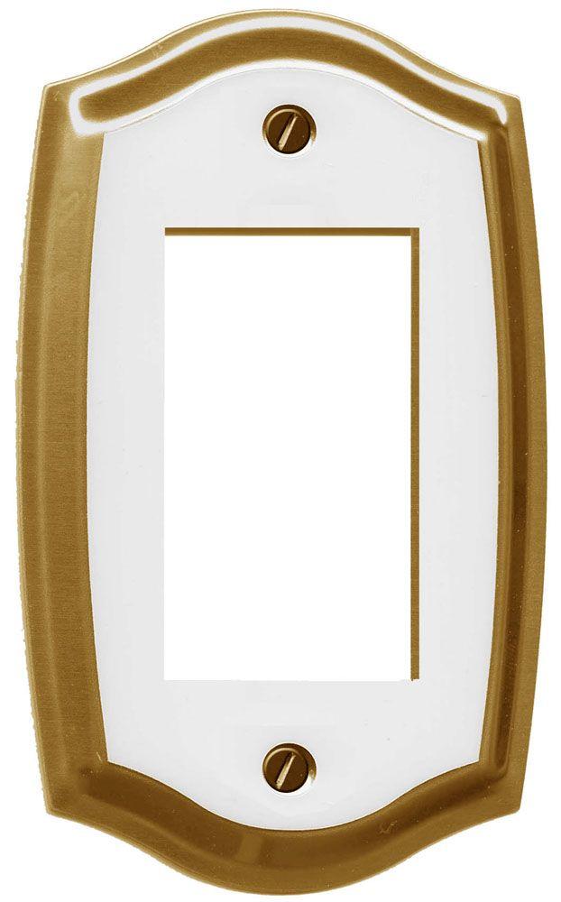Plaque Murale Décorative Décor Royal Blanc Sur Laiton
