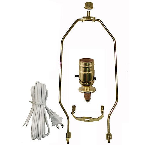 Lamp Kit with Brass Harp