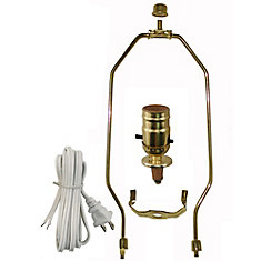 Lighting parts accessories the home depot canada lamp kit with brass harp aloadofball Gallery