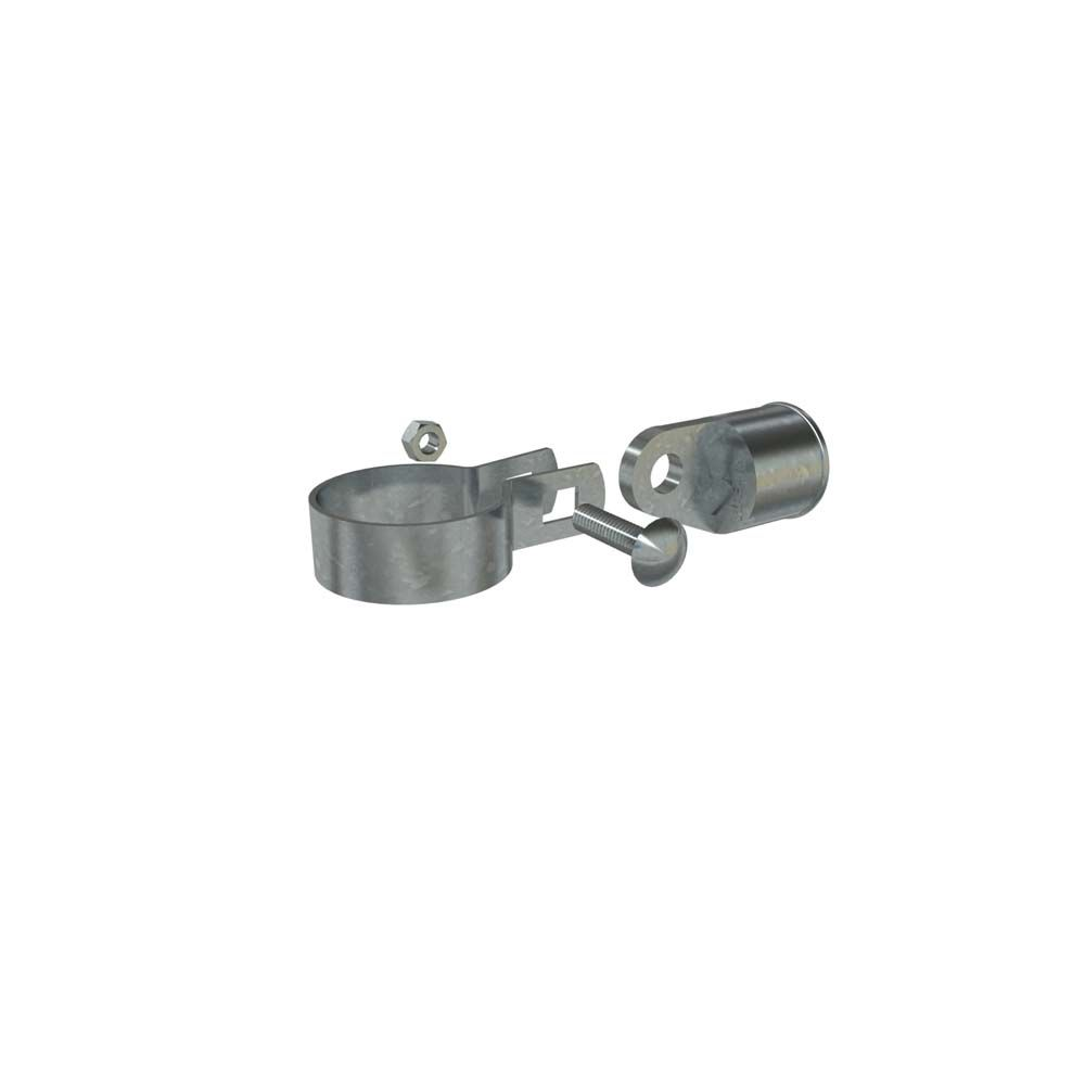 Galv Rail End Assembly 1-1/4 inch X 1-7/8 inch