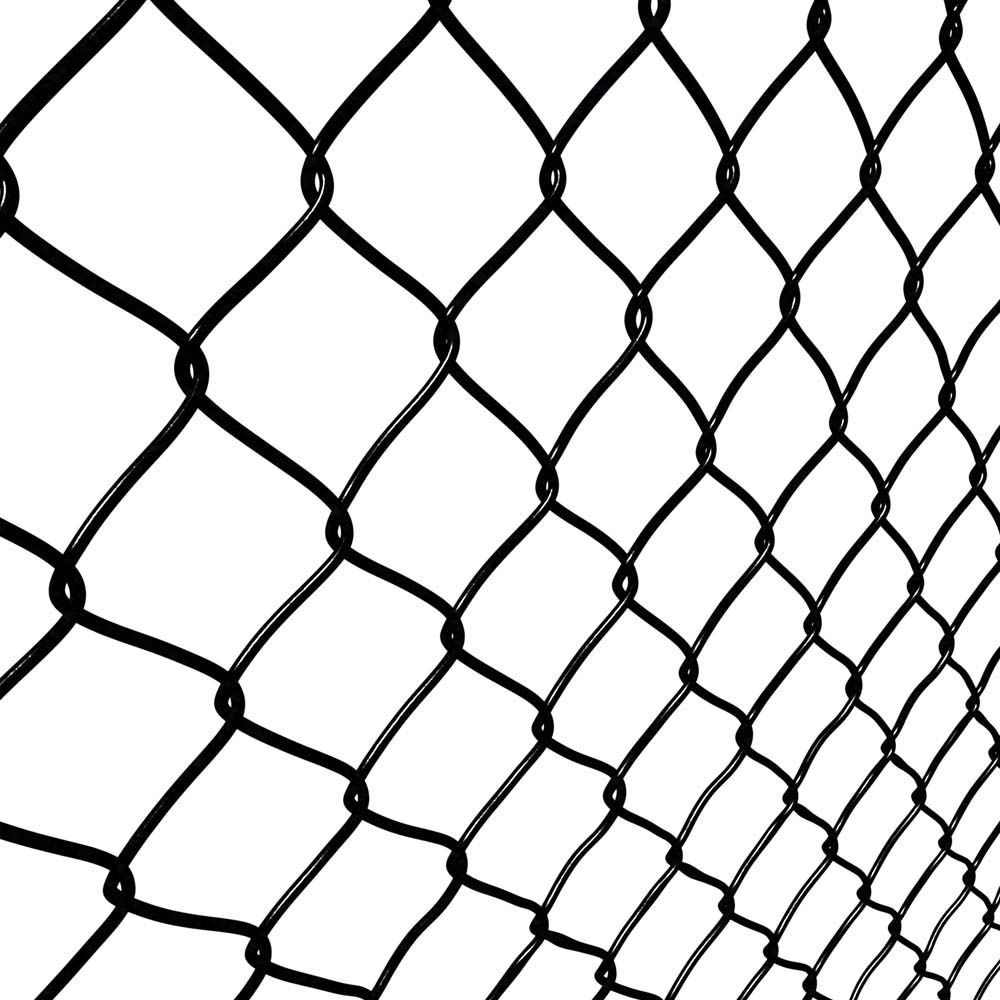 Peak Products 1-1/2 Inch x 60 Inch x 50 Feet Black Chain Link Fence Mesh