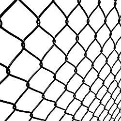 Peak Products 1-1/2 Inch x 60 Inch x 50 Feet Black Chain Link Fence Mesh