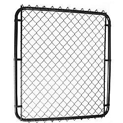 "Master Halco 42""op x 60""h Black Gate with 1 1/2"" Black Chain Link"