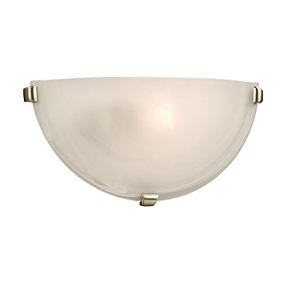 Marbled Glass Wall Sconce With 3 Pewter Clips