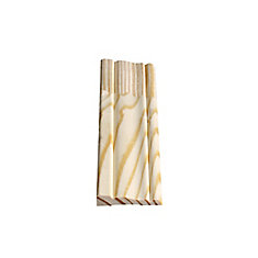 Finger Jointed Pine Colonial Casing 7/16 In. x 2-1/8 In. x 7 Ft.