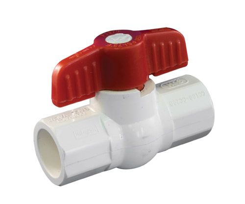 Ball Valve 1/2 Inch PVC Solvent Schedule 40 1107-633 in Canada