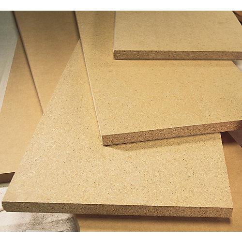 Unfinished Square Edge Medium Density Fibreboard Shelving 5/8 Inch x 12 Inch x 96 Inch